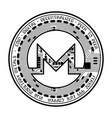 monero coin black silhouette vector image vector image