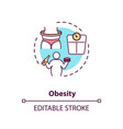 obesity concept icon vector image vector image