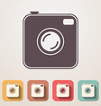 Old photocamera flat icons set fadding shadow vector image vector image