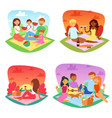 picnic people happy family friends lovely vector image
