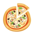 Pizza flat icons isolated on white background vector image vector image