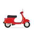 red classic scooter motorcycle vector image
