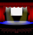 red luxury curtain conference hall vector image
