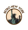 retro vintage new york travel sticker vector image