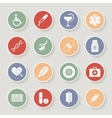Round Medical Icons vector image vector image
