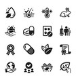set healthcare icons such as thermometer anti vector image vector image