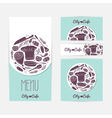 Set of identify cards templates with doodle food vector image vector image