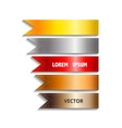 Show colorful ribbon promotional products design vector image vector image