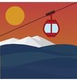 Ski Lift Gondola vector image vector image