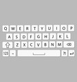 smartphone keyboard mobile phone keypad mockup vector image