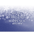 Snowflake background holiday backdrop vector image vector image
