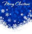 Snowflakes Chrismas Card Blue 2 A vector image vector image
