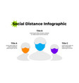 social distance graphic concept three people vector image