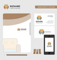 sofa business logo file cover visiting card and vector image vector image