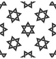 star of david icon seamless pattern vector image