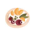 tasty vegetable dish with boiled beet and slices vector image