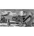 vintage engraving an agricultural scene vector image vector image