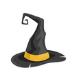 wizard hat isolated icon vector image