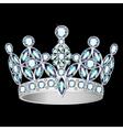 women silver crown vector image vector image
