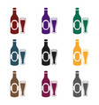 beer icon in black style isolated on white vector image