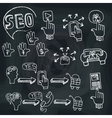 Doodle scheme main activities seo with icons vector image