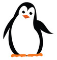 a beautiful and happy penguin is with an orange vector image