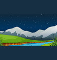 a nature template at night vector image vector image