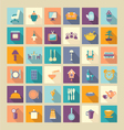 A set of home related icons elements vector image vector image