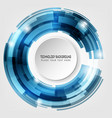 abstract circles technology background vector image vector image