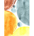 Abstract yellow orange and grey color watercolor