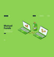 banner investment in mutual fund vector image