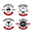 Butchery Emblems 1 vector image vector image