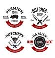 butchery emblems 1 vector image vector image