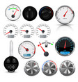 car interior design elements - gauges buttons vector image