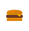cheeseburger isolated icon in flat style vector image