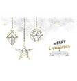 christmas and new year abstract gold line ornament vector image vector image