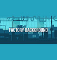 creative of factory line vector image