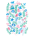 Cute card with a floral print vector image vector image
