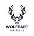 deer head logo design vector image vector image