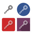 dotted icon key in four variants with short vector image vector image