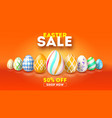 easter sale get up to 50 percent discount hand vector image vector image