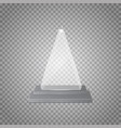empty glass trophy awards on transparent vector image vector image