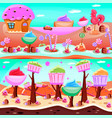 fairy tale candy land compositions vector image