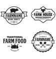 farmers market logos templates objects set vector image
