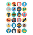 Fashion Flat Icons 1 vector image vector image