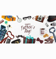 fathers day horizontal banner vector image vector image