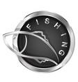fish in a circle symbol vector image vector image