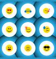 flat icon emoji set of descant have an good vector image vector image