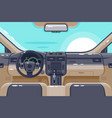 flat insides of car interior with transmission vector image vector image