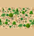 forest desert pattern seamless background vector image vector image